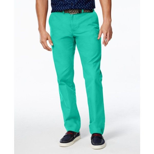 Tommy Hilfiger Men's Custom Fit Chino Pants ($40) ❤ liked on Polyvore featuring men's fashion, men's clothing, men's pants, men's casual pants, lake blue, mens chino pants, tommy hilfiger mens pants, mens blue pants, mens pants and mens blue chino pants