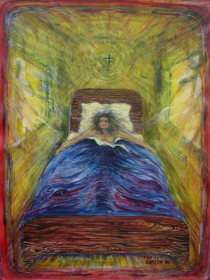 Morning Light study, acrylic on canvas, Wakefield Artist Tim Burton.