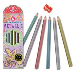 eeBoo Metallic Pencils 6 Pack $7.95 at Mastermind (to accompany Design By Me colouring book)