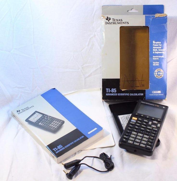 Texas Instruments TI85 Graphic Calculator Cover