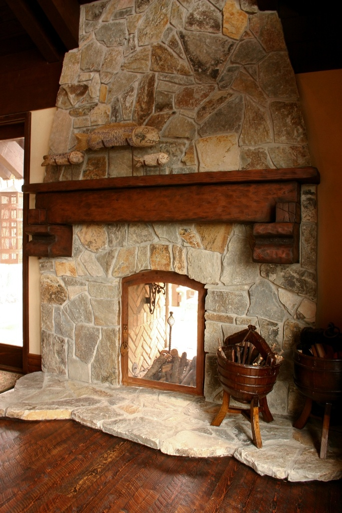 McGregor Lake Random from Montana Rockworks: Interior Fireplaces, Interior Mosaic, Design Ideas, Fireplace Ideas, Stone Fireplaces, Downstairs Ideas
