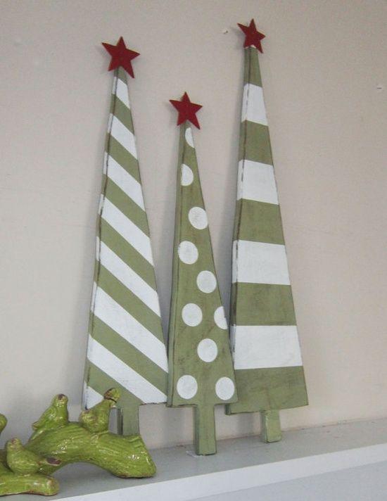 Stripes and Polka christmas trees