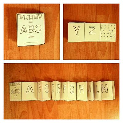 Sonniges Klassenzimmer: ABC-Leporello