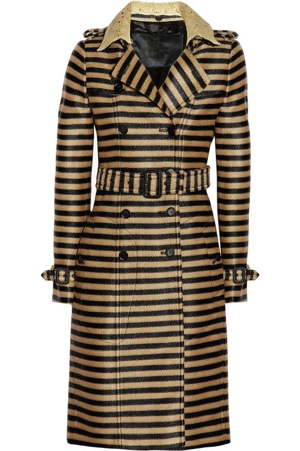 Burberry Prorsum stripesFashion, Prorsum Stripes, Stripes Trench, Stripes Raffia Weaving, Burberry Trench, Raffia Weaving Trench, Burberry Prorsum, Trench Coats, Http Clothing33S Blogspot Com