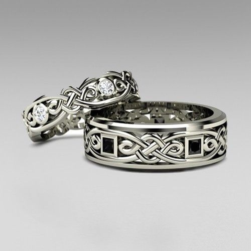 1000 ideas about gothic wedding rings on pinterest