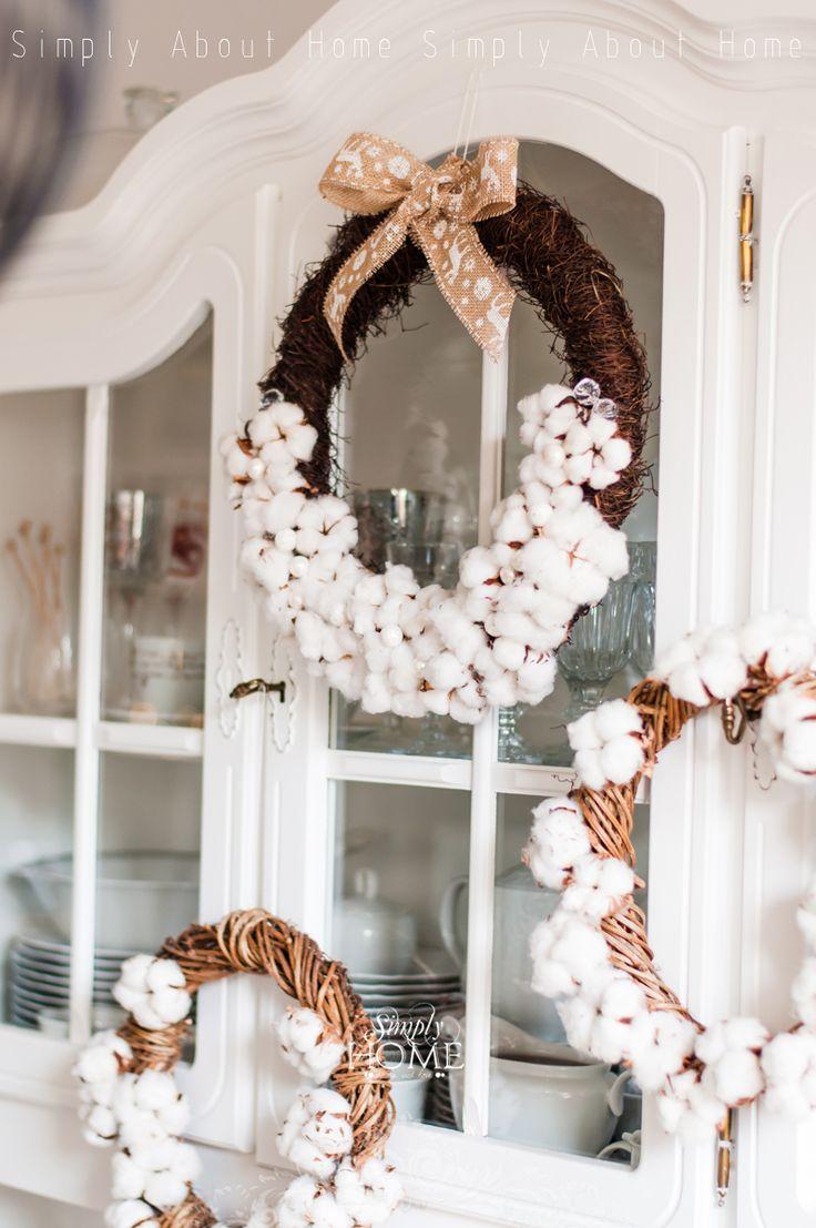 simply about home: Piątek, trzynastego #handmade #wreath #cotton #cottonwreath #diy