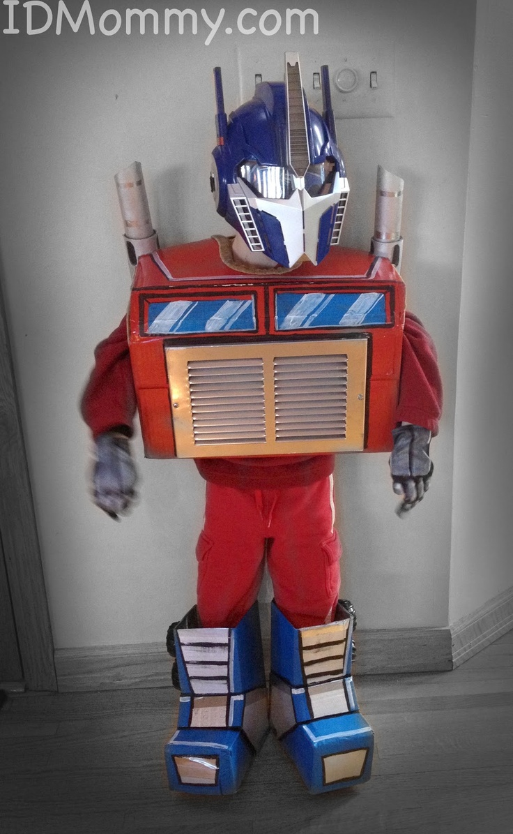 ID Mommy: DIY Optimus Prime Transformer Halloween Costume