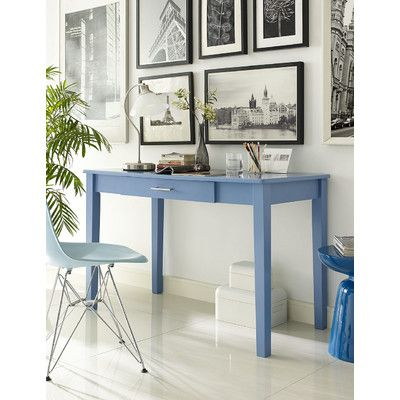 Blue Writing Desk from Wayfair Canada The writer of the house will swoon over this classic and elegant piece. With a beautiful gloss finish and a drop-down keyboard tray, this is the perfect writing or computer desk for any office.
