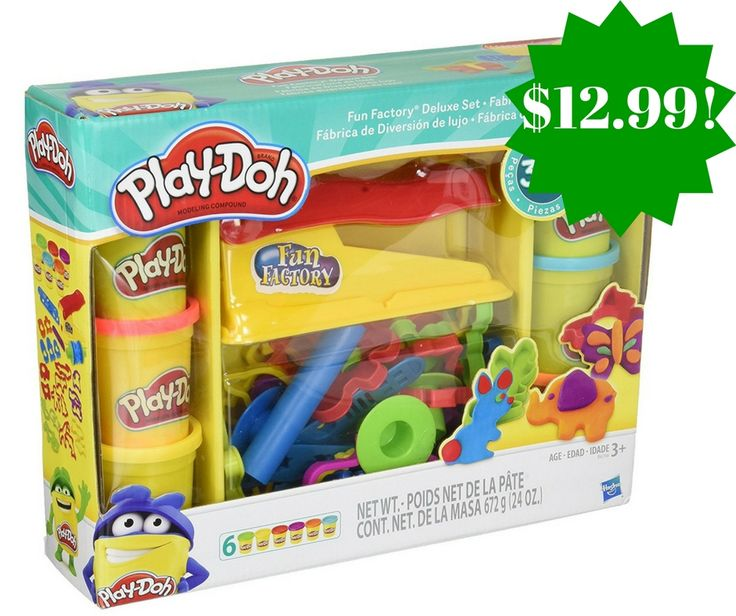 Amazon: Play-Doh Toy Fun Factory Deluxe Playset Only $12.99 (Reg. $22) - http://www.couponsforyourfamily.com/amazon-play-doh-toy-fun-factory-deluxe-playset-only-12-99-reg-22/