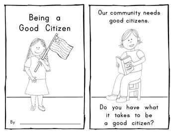 Printables Good Citizenship Worksheets 1000 ideas about good citizen on pinterest citizenship being a emergent reader for social studies kindergarten and first grade