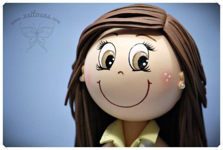 Peinado fofucha pelo largo y liso www.xeitosas.com | Pelos | Pinterest