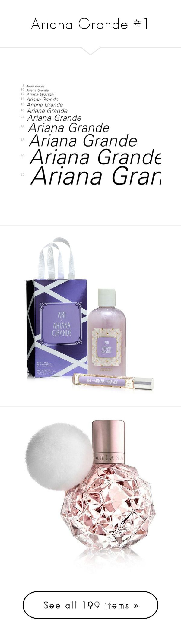 """""""Ariana Grande #1"""" by angiemx ❤ liked on Polyvore featuring ariana grande, words, ariana, backgrounds, text, beauty products, gift sets & kits, no color, bubble bath and fragrance"""