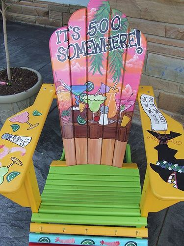 I have two white chairs and would love to do something like this for the deck!Adirondack Chairs, Adiirondack Chairs, Nautical Painting, Painted Chairs, Painting Adirondack, Chairs Painting, Adirondak Chairs, Chairs Ideas, Painting Chairs