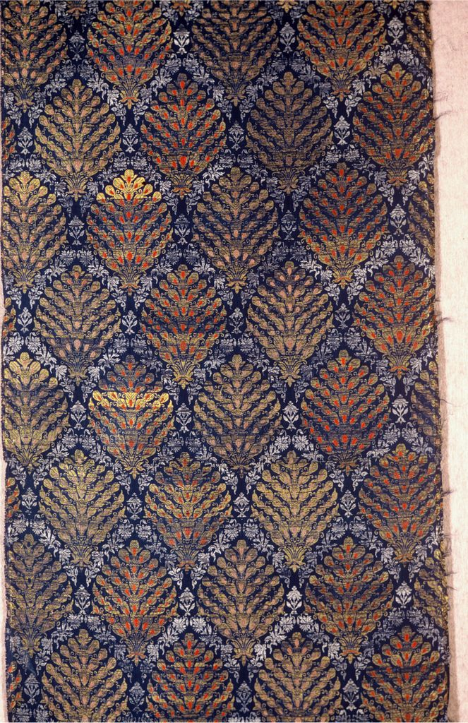 17 c, Safavid Persia, brocaded silk and silver and gold metallic threads