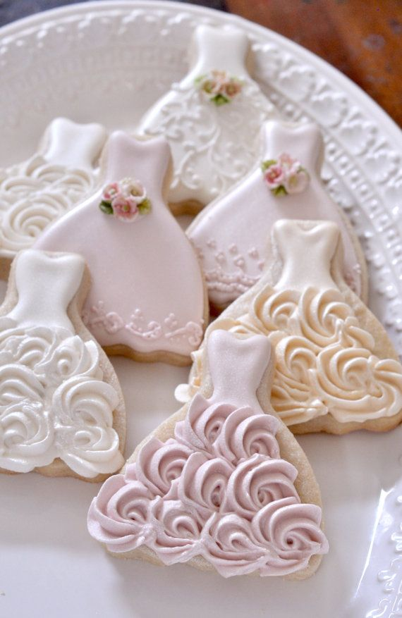 100 Pieces Petite Sized Wedding Dress Cookies Cookie Favors