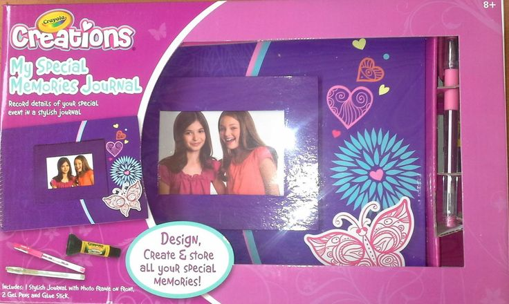 Crayola Creations My Special Memories Journal Pink Butterfly Girl Flowers Diary
