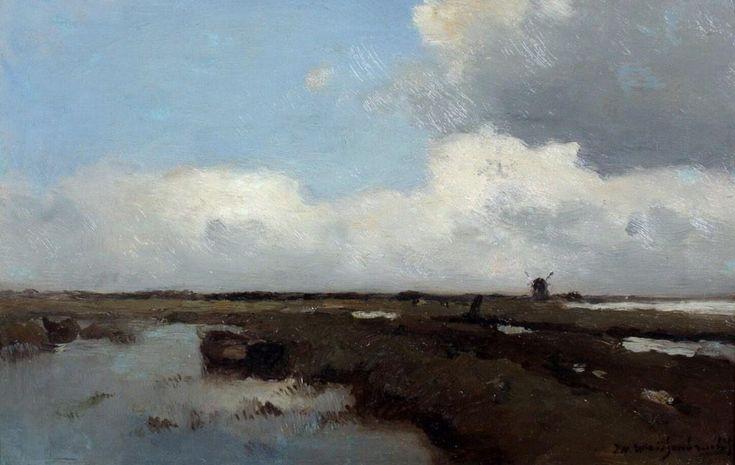 Prachtig schilderij van dé Weissenbruch, Jan Hendrik. Haagse School in optima forma.