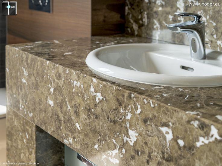 Hoder - blaty łazienkowe z naturalnego kamienia #Hoder #blaty #granit #marmur #worktops #bathroom #home #marble #granite