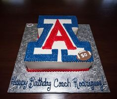 Arizona Wildcats cake | Coach Rich Rod's birthday cake #BearDown More
