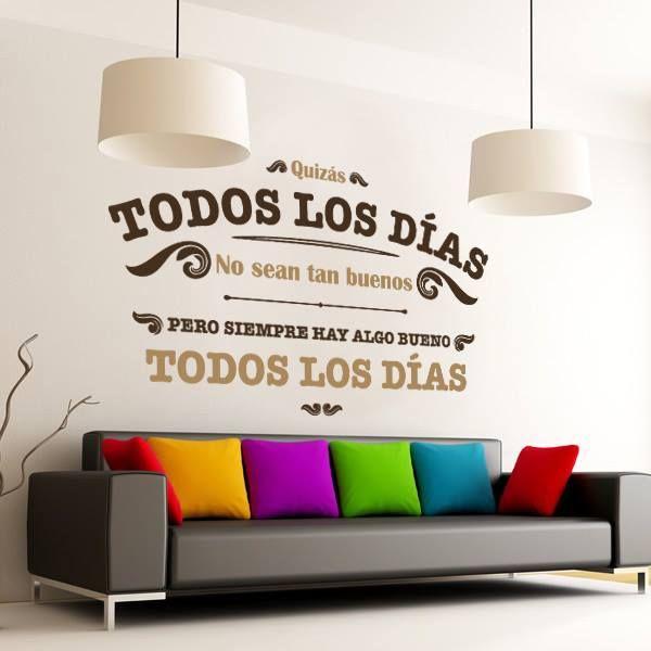 http://www.viniloscasa.com/vinilos-decorativos-a-color/745-vinilos-decorativos-frases-todos-los-dias.html  #decoracion #interiorismo #vinilos #casa #hogar #vinilosdecorativos