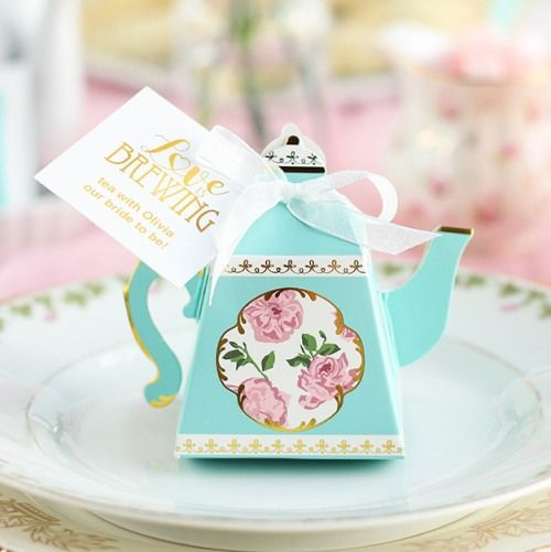 teapot favor box bridal shower teabridal