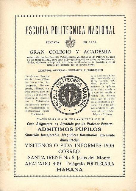 Escuela Politecnica Nacional - Habana