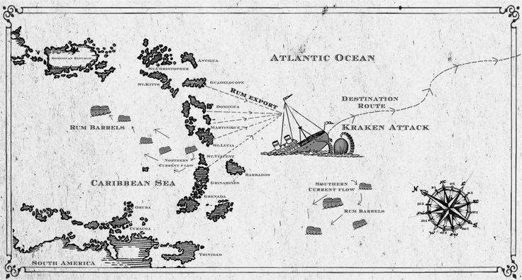 How the Kraken Rum got its name - map