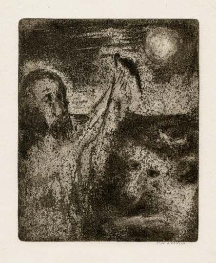 Bohuslav Reynek Noe vypouští krkavce / Noe Sends Out the Raven lept / etching…