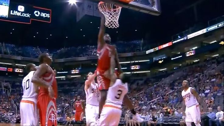 Houston Rockets center Clint Capela dunked all over Brandon Knight last night.