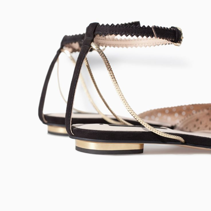 ZARA - PROMOȚIE - OPEN-WORK FLAT SANDALS