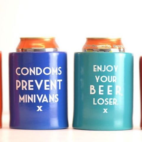 Put the Cool back in can coolers... remember the extra thick (and buoyant. they float.) beer koozies from the 70s and 80s? Well, we decided to bring them back.