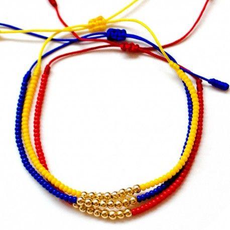Accesorios para mujer - Pulseras para mujer colombianas de moda elaboradas a mano con hilos, balines y mostacillas de artesanias de Colombia.