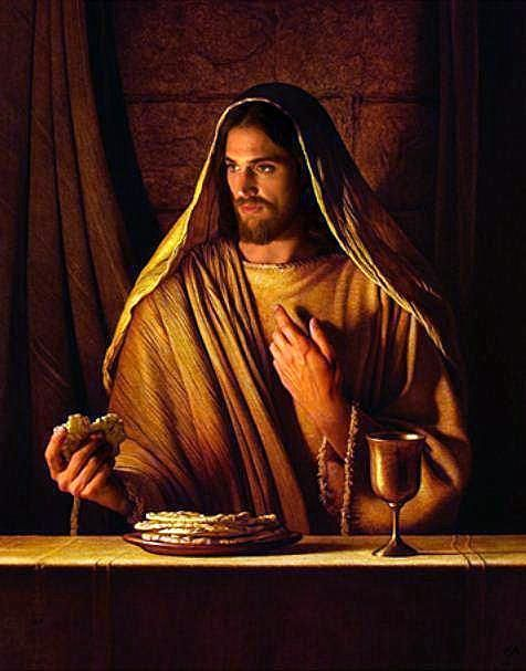 "Jesus: ""My body and blood, broken for you, that you may have eternal life. Eat in remembrance of me."""