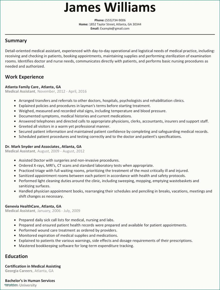 Physician assistant Resume Sample Lovely 10 Medical Doctor