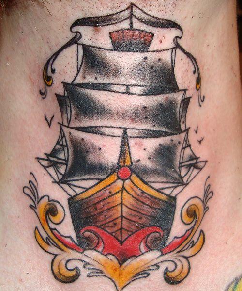 Sailor Jerry Ship Tattoo Designs