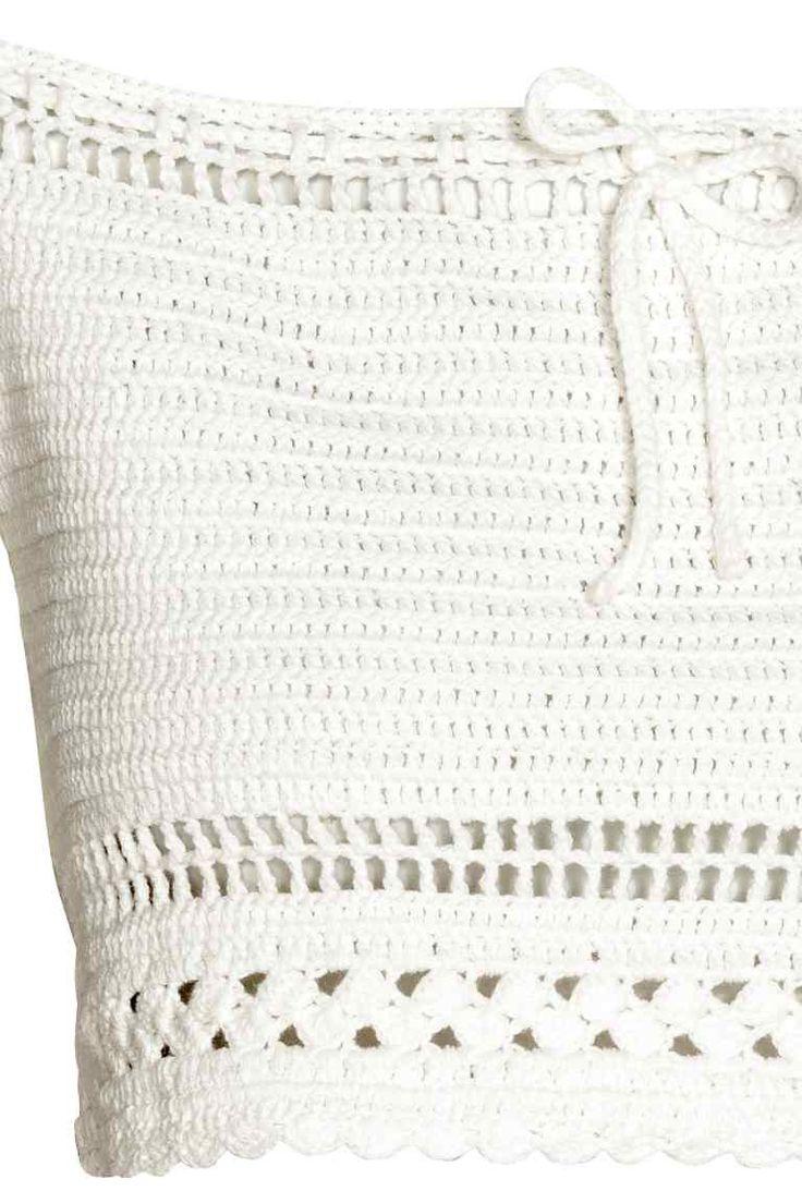 Szydełkowy top - Biały - ONA | H&M PL