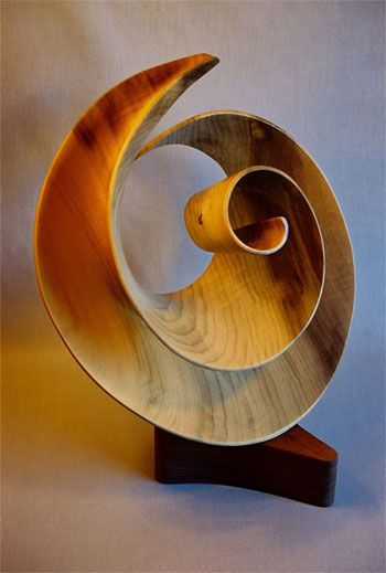 Wood sculptures by John McAbery
