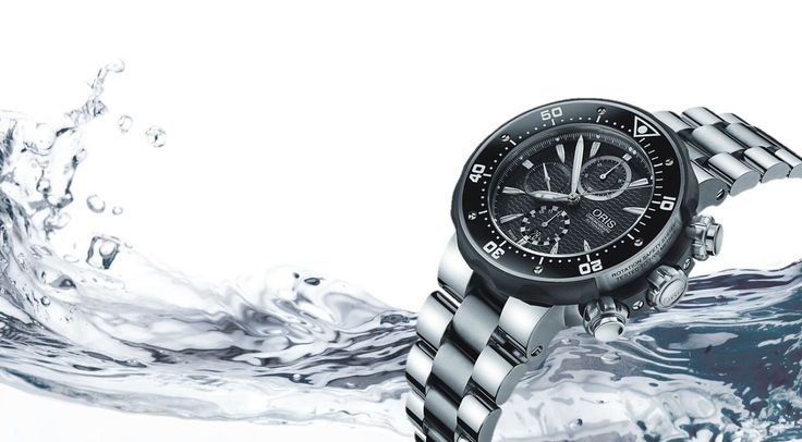 Oris ProDiver 51mm Chronograph diving watch in Titanium
