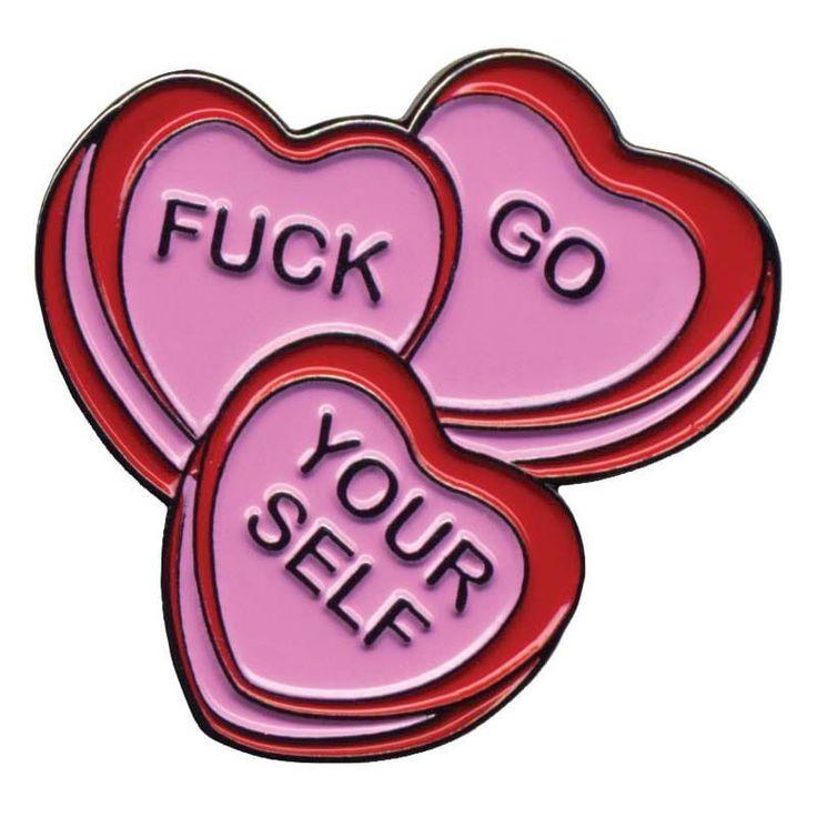 Sourpuss Enamel Pin - Candy Hearts