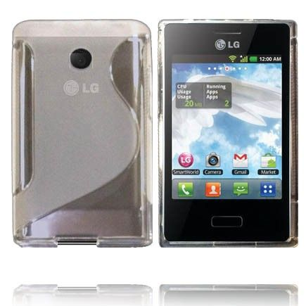 Transparent S-Line (Gennemsigtig) LG Optimus L3 Cover
