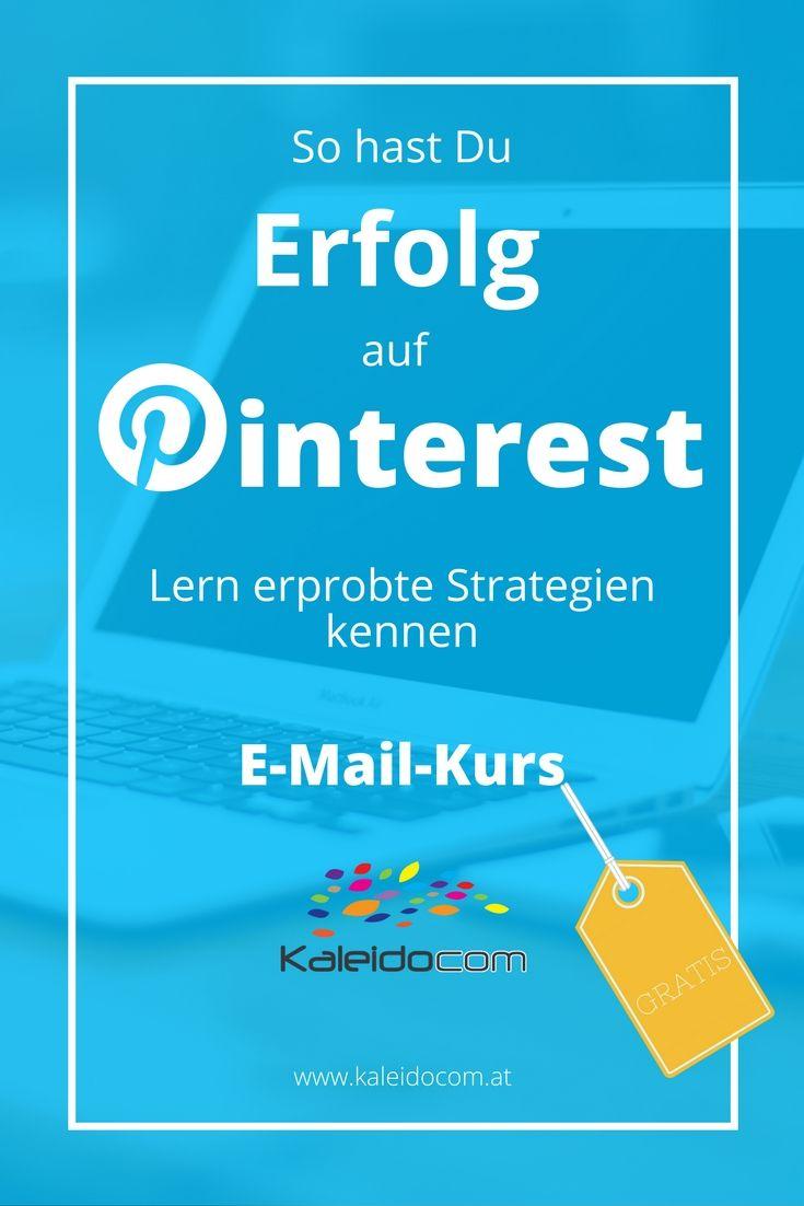 Lern erprobte Strategien kennen, die Dir auf Pinterest Erfolg bringen.