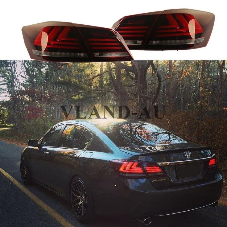 Taillight For Honda Accord Sedan 2013-2015 4 Door LED Brake Red lens Custom…