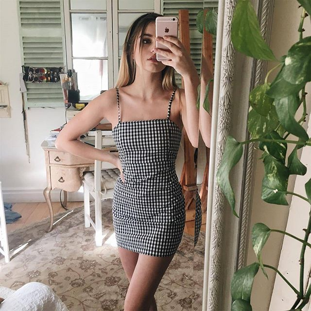 Super babe @beansiie wearing the Girl Gang Mini Dress ☆ Looking 10/10 girl || Re-stocked and in the Instashop!