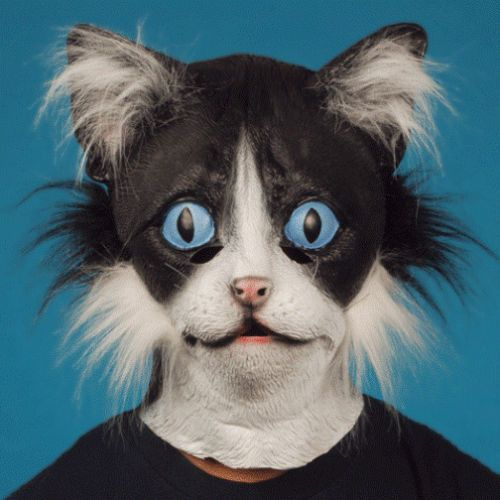 Cat With Fur Latex Animal Mask