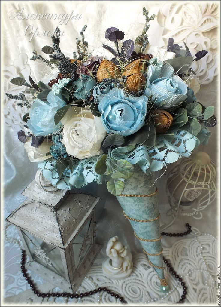 Букеты в стиле ретро и винтаж, необычные букеты цветов