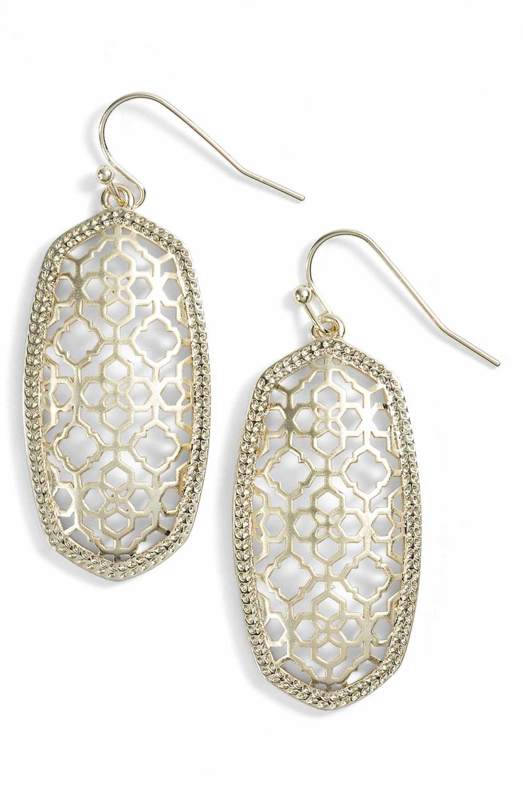 Main Image - Kendra Scott Elle Filigree Drop Earrings