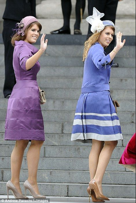 Princesses Eugenie and Beatrice arrive  for the Diamond Jubilee Thanksgiving Service at St Paul's CathedralRoyal Families, Princesses Eugenie, Princess Eugenie, Thanksgiving Service, British Royalty, Princesses Beatrice, Beatrice Arrival, England Royalty, Diamonds Jubilee