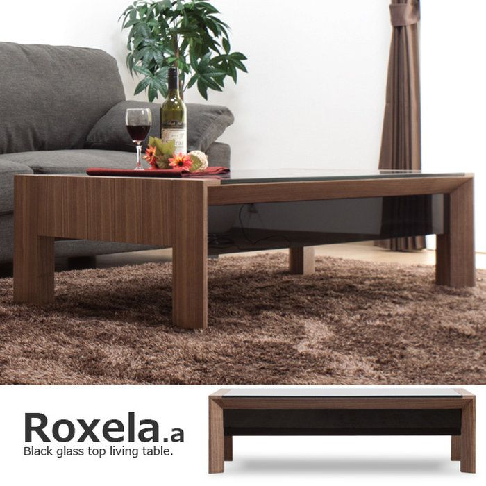 【*送料無料】収納付きガラストップテーブル/Roxela.a(ロクセラ120cm幅)テーブルリビングテーブルスクエアタイプデザインテーブルローテーブルセンターテーブル高級デザイナーズガラステーブル