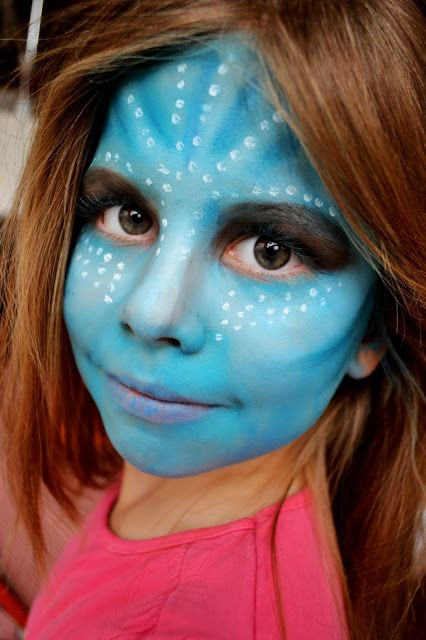 #Halloween #avatar #child #makeup