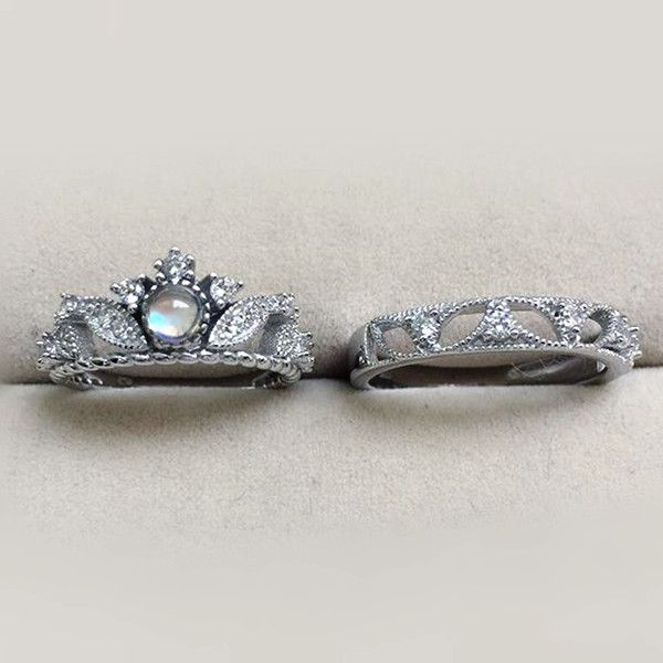 Affordable Classic Antique Art Deco Sterling Silver Blue Moonstone His and Hers Couples Engagement Rings  http://www.jewelsin.com/p-affordable-classic-antique-art-deco-sterling-silver-blue-moonstone-his-hers-couples-engagement-rings-1250